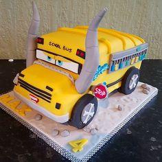 CARS 3 Miss Fritter birthday cake