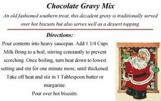 Gift Giving Mixes : Chocolate Gravy - Receitas Pratos Chocolate Gravy, Chocolate Recipes, Christmas And New Year, Christmas Holidays, Corelle Bowls, Pint Mason Jars, Christmas Fabric, Unsweetened Cocoa, Home Recipes