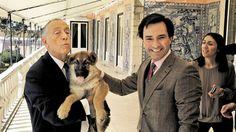 A Força Aérea ofereceu um cão ao Presidente da República. Chama-se Asa, tem três meses e é da raça pastor alemão.