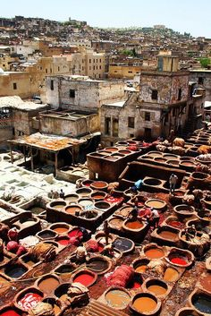 Dye vats in Fes, Morocco | Views from the road less traveled.
