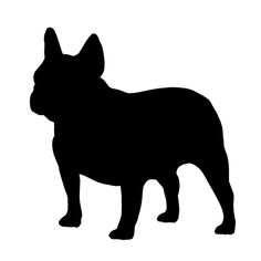 Take a look at this French Bulldog ChalkboardDog Wall Decal by Steadfast Friends on today! French Bulldog Drawing, French Bulldog Tattoo, Plotter Silhouette Cameo, Dog Silhouette, Bulldogge Tattoo, Lion Flower, Bulldog Cartoon, Dog Stencil, Dog Bakery