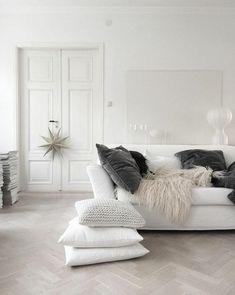 Salones blancos para ampliar visualmente el espacio