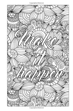 Amazon Pocket Size Adult Coloring Book Floral Patterns Mandalas And Motivational