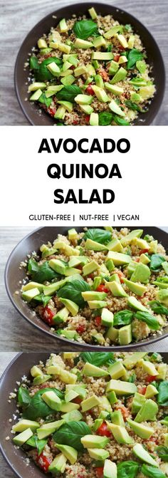 Quinoa and avocado salad recipe that you'll want to eat every day! This is a super healthy salad recipe that is satisfying, refreshing, gluten-free and full of antioxidants!