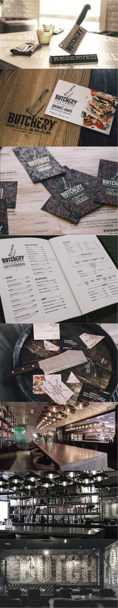 Butchery Grill & Bar. Masculine overload. #branding #identity #design (View more at www.aldenchong.com)