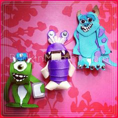 """RM """"Monsters Inc"""" inspired Ribbon Cutie Set: MTO"""