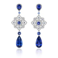Among the most iconic is a pair made from oval sapphires set with diamonds, echoing the earrings that matched her famous engagement ring.
