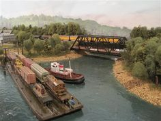ho model train layout with lake | Lake Erie Navigation Company - Model Railroading Layouts - Model ...