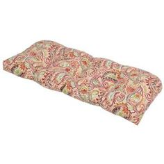 Chili Paisley Outdoor Settee Cushion 7426-01229200 at The Home Depot - Mobile