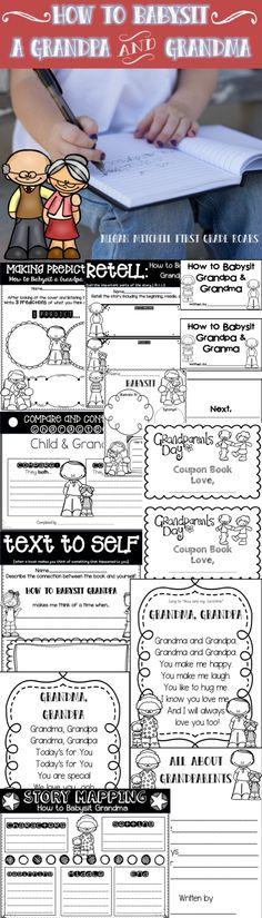 How to Babysit Grandma & Grandpa by Reagan... A Mini Unit