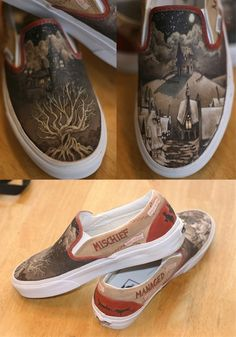 WANT!!!! harry potter vans!!!