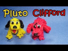 Rainbow Loom PLUTO or CLIFFORD Dog Charm. Designed and loomed by DIY Mommy. 02/14