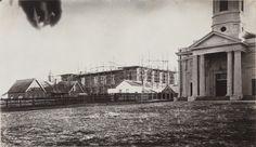 6909B/39: Perth Town Hall under construction behind St George's Church, 3 March 1868 https://encore.slwa.wa.gov.au/iii/encore/record/C__Rb2203418