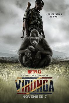 Virunga. Focuses on the conservation work of rangers within Virunga national Park and the activity of a British company which began exploring for oil within the UNESCO World Heritage Site. Directed by Orlando von Einsiedel.  2014