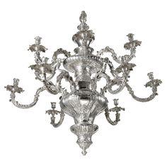 A William IV silver chandelier, Robert Garrard, London, 1834-37.