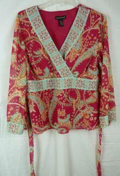 Lane Bryant Women 039 s Plus Size Boho V Neck Long Sleeve Blouse Size 18 20   eBay