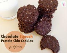 Chocolate Squash Protein Chia Cookies