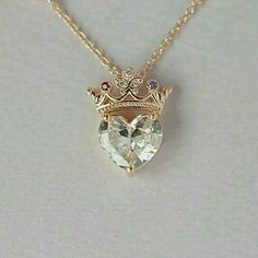 Crown heart necklace queen necklace pendant necklace sterling silver necklace statement necklace jewelry gift for queen gift for her Accessoires Cute Jewelry, Jewelry Gifts, Jewelry Necklaces, Heart Jewelry, Handmade Jewelry, Heart Necklaces, Jewlery, Etsy Jewelry, Pandora Jewelry