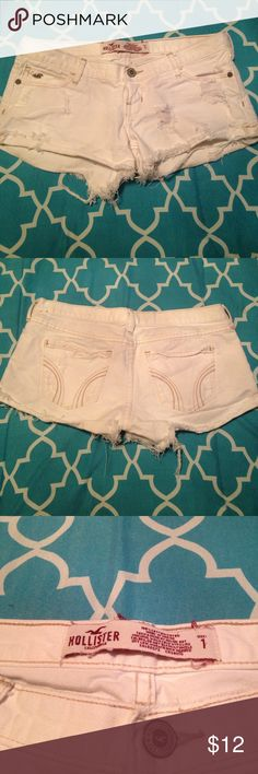 Hollister shorts Size one hollister shorts. Only been worn a couple times, just to small for me now! Shorts Jean Shorts