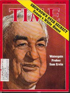 TIME Watergate Sam Ervin Nixon Lon Nol Cambodia Phnom-Penh 4/16 1973