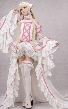 Gothic Lolita Chobits Chii Luxury Ver Pink Cosplay Costume Party Dress  Custom Size Halloween NEW f01ae18367a6