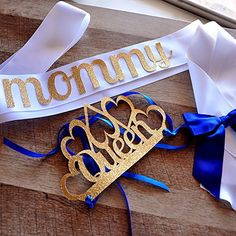 Royal+Prince+Baby+Shower+Decorations.+Queen+Crown+and+Sash+combo+for+Mom+to+Be.