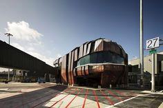 "Wellington Airport ""Rock"" Terminal, Wellington, New Zealand"
