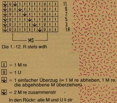 Hole knitting pattern Example pattern width: 7 M + 4 M + 2 Rdm - Lochmuster - Handarbeit Hand Knitting, Knitting Patterns, Tricks, Periodic Table, Tie, Free Pattern, Knit Patterns, Wrist Warmers, Spider