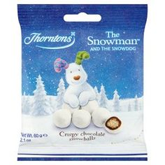 Thorntons The Snowman & The Snowdog Crispy Chocolate Snow Balls Snowman And The Snowdog, Christmas Chocolate, Asda, Christmas 2014, Snowball, Balls, Shopping, Food, Meal