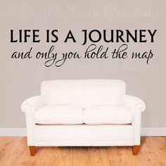 "SAVE 30% - use code ""29OFF"" - Life Is A Journey wall decal - wall quote - home vinyl wall decal - wall sticker"
