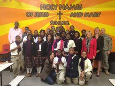 Holy Names School in Memphis is a Jubilee School.  Jubileeschools.org  Each Jubilee School student pays according to their house hold income.  There are 77 students at Holy Names in grades 3-8.  This is a photo of the eighth grade class and 100% of them will stay in a Catholic high schools.  Catholic Schools in Memphis last year had a 100% graduation rate.  The majority of this class will attend Memphis Catholic: Education That Works.