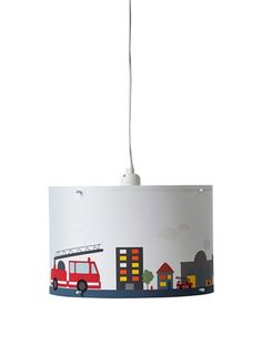 Ceiling Lampshade FIRE TRUCKS