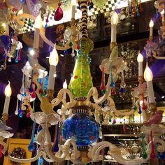 Love this #chandelier - - #mackenziechilds #whimsey #colourpop #homedecor #igdaily #travelgram #fun #nycstylelittlecannoli #iloveny #uniqueshopping #west57th #manhattan #insta_nyc #giftgiving