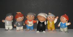 1963, - Die Mainzelmännchen! bekannt aus dem Zweiten Deutschen Fernsehen. Auf der Berliner Funkausstellung wurden sie als Werbegeschenke in die Menschenmenge geworfen.