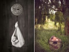 I love that shot on the right. I an only think of one time that I've managed to get a summer newborn!