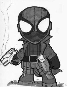 spiderman chibi | Chibi Noir Spiderman by supaman2525