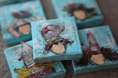 just so adorable  mini canvases by Junelle Jacobsen