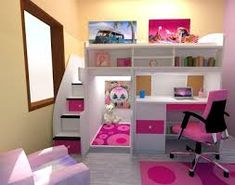 Resultado de imagen para como organizar cuarto pequeño de niñas