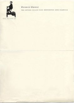 time marches on. george grosz's letterhead.