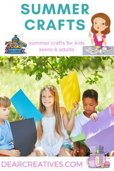 Summer Craft Ideas - Summer crafts to make. Fun ideas for every age. Adult crafts, teen crafts and kids crafts. Grab an Fun easy summer craft to try! Adult Crafts, Kid Crafts, Crafts To Make, Craft Projects, Arts And Crafts, Craft Ideas, Summer Crafts For Kids, Summer Diy, Crafts For Teens