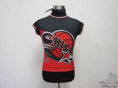 Womens Soho Babe Chicago Bulls Short Sleeve Turtle Neck Shirt sz L Large Dri Fit #Soho #ChicagoBulls #tcpkickz