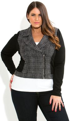 c497a647268 Shop Women s Plus Size Women s Plus Size Boucle Ponte Jacket