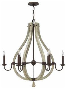 Middlefield 6 Light Chandelier Fredrick Ramond for Hinkley FR40576IRR farmhouse-chandeliers