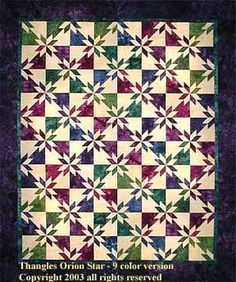 orion star quilt pattern - Google Search