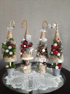me ~ Santa Hat Door Hanger, Santa Hat Wreath, Christmas decor, Christmas Diy Christmas Decorations Easy, Christmas Tree Crafts, Mini Christmas Tree, Rustic Christmas, Christmas Projects, Christmas Wreaths, Christmas Ornaments, Diy And Crafts, Santa Hat