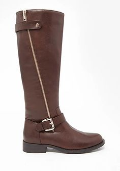 Zipper Riding Boots, $34.90; Forever21.   - Redbook.com