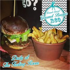 We are now serving GOURMET BURGERS! Camembert & Fig, Brie & Chili jam or Matured cheddar & onion marmalade, all served with French fries! Don't miss out on our amazing launch special for just Weekdays 12 - & Sat 12 - Gourmet Burgers, Marmalade, French Fries, Brie, Cheddar, Wines, Onion, Hamburger, Chili