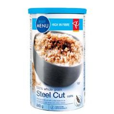 they are labour-intensive to cook up, but i love the nutty, chewy experience of eating steel cut oats. like risotto for breakfast! Blue Menu, Steel Cut Oats, Junk Food, Oatmeal, Grains, Food And Drink, Baking, Eat, Breakfast