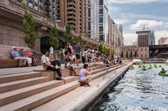 Chicago Riverwalk Expansion in Chicago, Illinois (United States). By SASAKI.