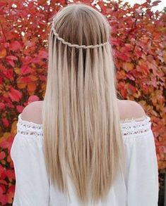 Inspirasjon: 32 frisyrer til å adoptere når du har langt hår! Winter Hairstyles, Hairstyles For School, Pretty Hairstyles, Girl Hairstyles, Braided Hairstyles, Hairstyle Braid, Hairstyles 2016, Beautiful Braids, Super Hair